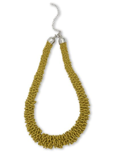 Muse chartreuse mini bead necklace