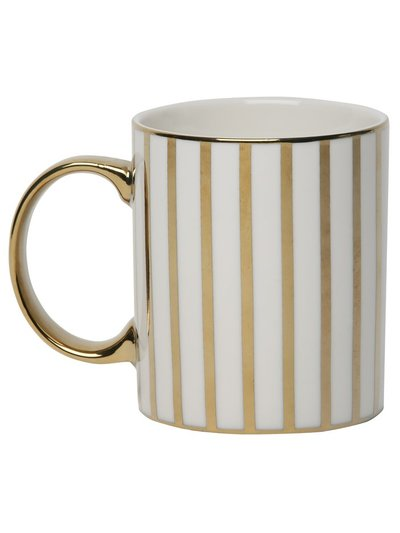 Gold stripe mug
