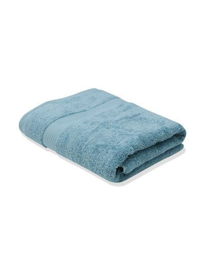 Grey combed cotton bath towel