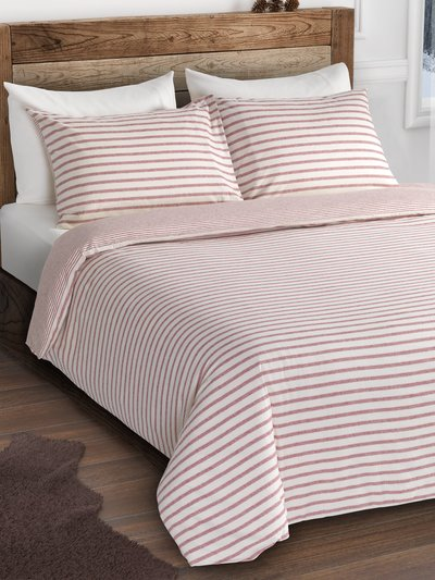 Brushed cotton stripe duvet set