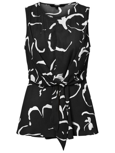 Vero Moda tie front abstract print top