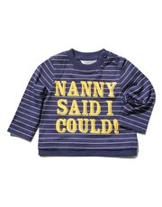 Nanny slogan stripe t-shirt