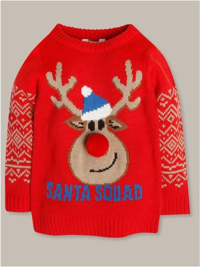 Reindeer Christmas jumper (9mths-5yrs)