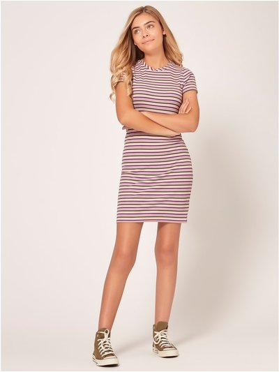 Teen striped bodycon dress