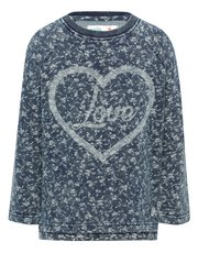 Floral print love sweater top