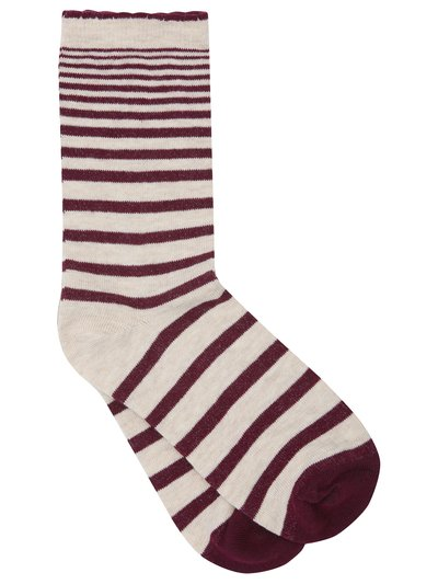 Stripe print socks