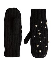 Pieces pearl embellished mittens