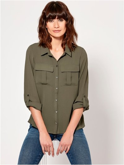 Pocket front utility shirt