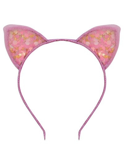 Sequin cat ears headband