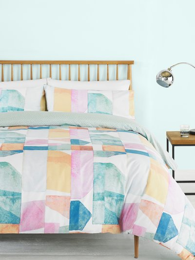 Colour block duvet set