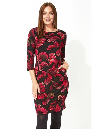 Roman Originals floral print ponte dress