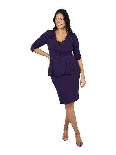Scarlett and Jo plus jersey lace insert peplum dress