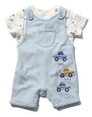 Car print bibshort and top set