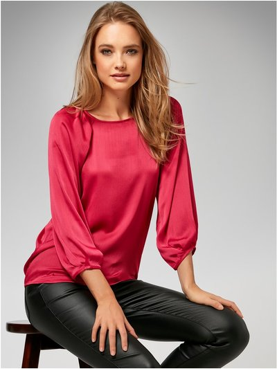 Sonder Studio pleat shoulder blouse