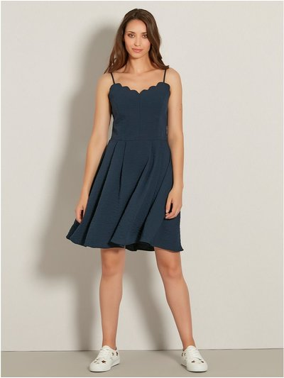VILA scallop skater dress