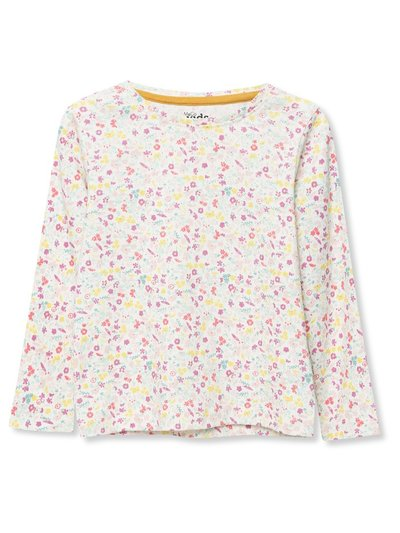 Floral pointelle top (9mths-5yrs)
