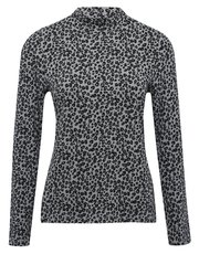 Leopard print roll neck top