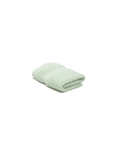 Light green combed cotton facecloth