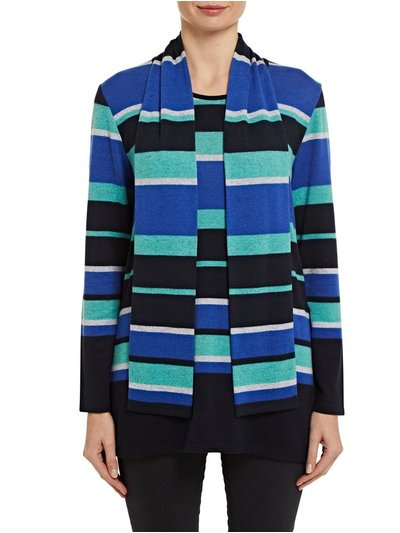 TIGI stripe tunic with scarf