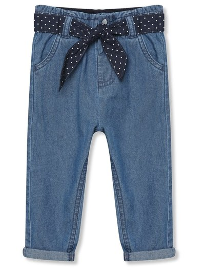 Elasticated waist jeans with tie belt (9mths-5yrs)