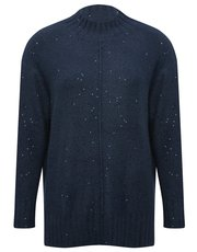 Funnel neck sequin jumper