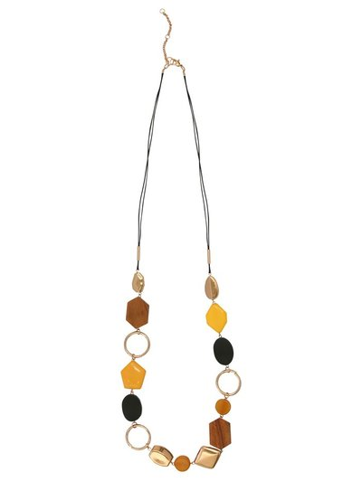 Muse hoop and bead long necklace
