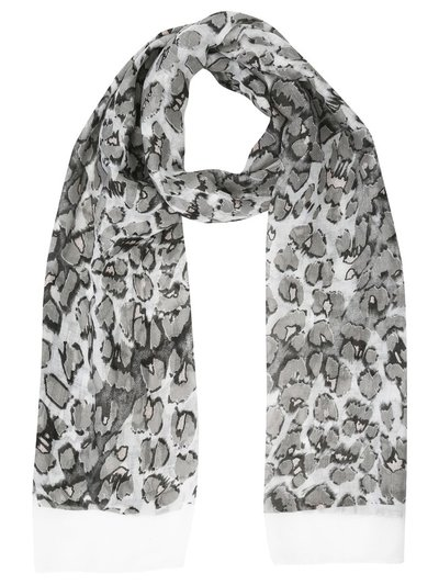 Glitter animal print lightweight scarf