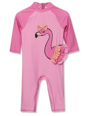 Flamingo Print Sunsafe Swimsuit (3mths-5yrs)