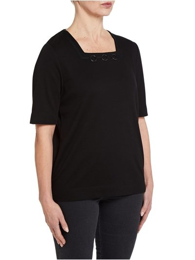 TIGI black square neck top