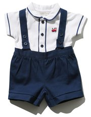 Polo bodysuit and bibshort set