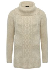Cable knit tunic jumper