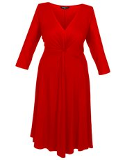 Scarlett and Jo plus jersey knot front dress