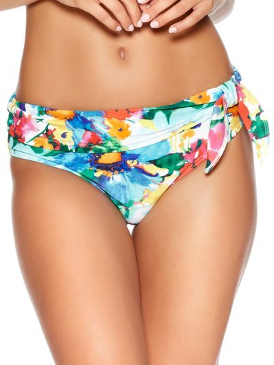Bright floral print roll over bikini bottoms