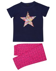 Teens' two way sequin star pyjamas