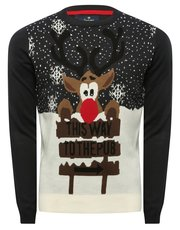 Mens reindeer Christmas jumper