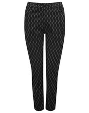Printed ankle grazer trousers
