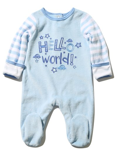 Hello World sleepsuit (Tiny baby - 18 mths)