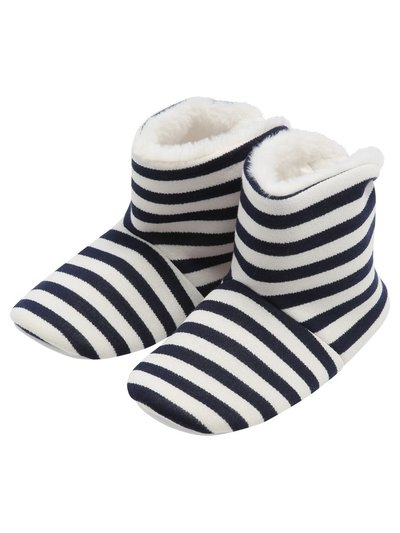 Stripe boot slippers