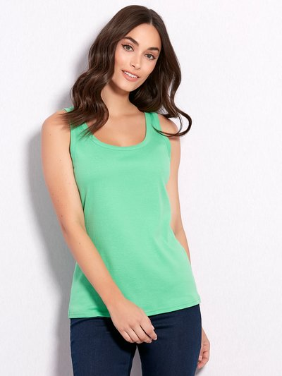 Scoop neck vest top