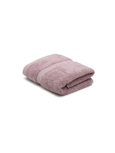 Lilac combed cotton hand towel