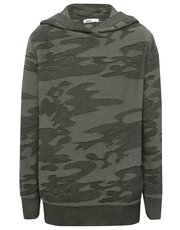 Camouflage hooded jumper
