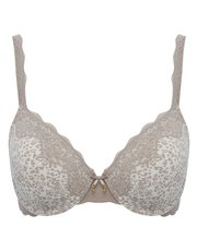 Underwired leopard print padded bra