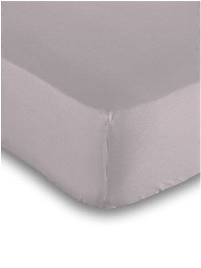 Cotton rich lilac deep fitted sheet