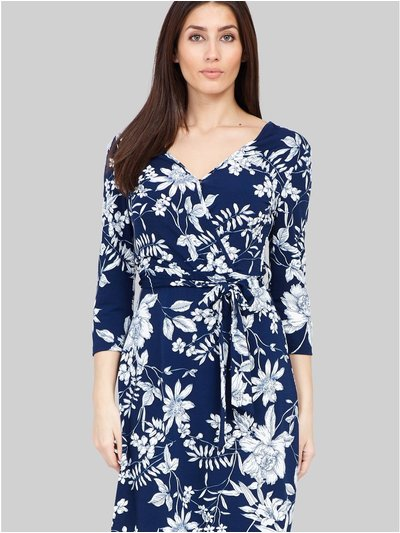 Izabel tie front floral dress
