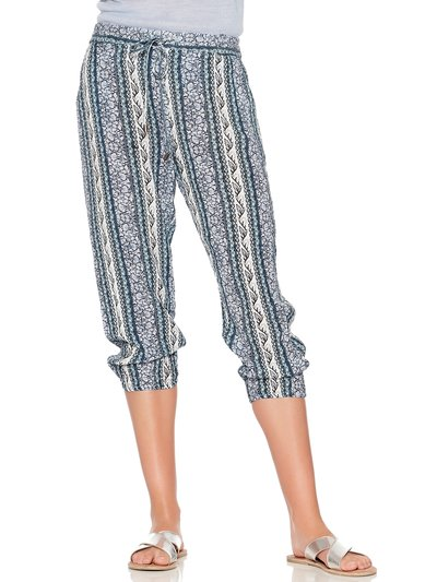 Floral stripe cropped jogger trousers