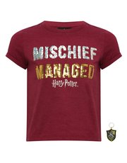 Teens' Harry Potter two way sequin t-shirt with keyring