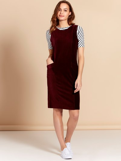 Cord pocket shift dress