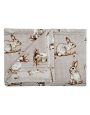 Rabbit fleece throw