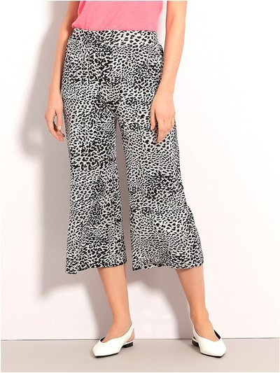 Animal print culottes