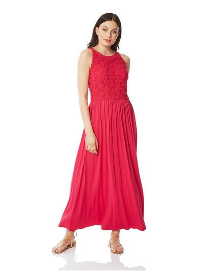 Roman Originals lace bodice jersey maxi dress